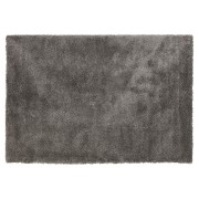 Donkergrijs shaggy woonkamertapijt 'TISSO' - 120x170 cm
