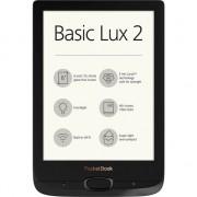 EBook Reader PocketBook Basic Lux 2, ecran 6 inch E Ink Carta HD, 8GB+slot microSD, iluminare frontala, WiFi, grosime 8mm, Negru