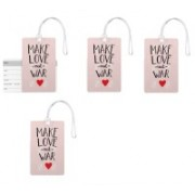 100yellow Luggage Tags- Love Quotes Printed High Quality PVC Tag with Silicon Strap- Ideal For Gift-Pack Of 4 Luggage Tag(Multicolor)