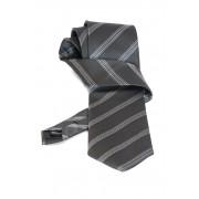 Cravata gri inchis cu dungi - NOU!