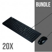 Bundle Teclado+Rato Asus U2000 c/fiosBlack USB PACK 20UN