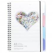 Mihi Mihi Ежедневник Единорог с блестками с кольцами А5