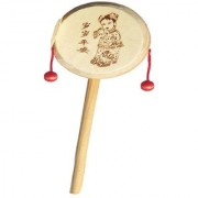 BuzyKart Wooden Rattle Drum Instrument Musical Toy For kids
