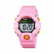 Ceas de copii sport SKMEI 1484 waterproof 5ATM cronograf, alarma, data si iluminare cadran, roz