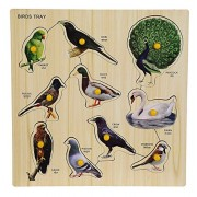 Arfa- Aaina - Birds Wooden Educational Colorful Puzzle (30x30 cm) Pack of one Piece Color Assorted