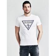Guess T-Shirt Met Driehoek-Logo Op De Voorkant