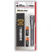 Maglite Mini PRO+ LED 2-Cell AA Gray Flashlight with Holster