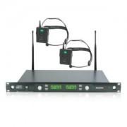 Master Audio UR602T Radiomicrofono ad archetto UHF doppio canale completo display LCD