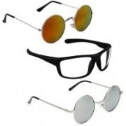 Vitoria Round, Rectangular Sunglasses(Multicolor)