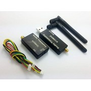 Generic Black : Dual TTL 915Mhz 100MW 3DR Radio Telemetry Module Kit With Case For APM 2F30035