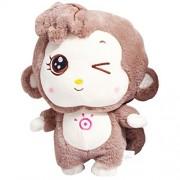 "TOLLION Cuddly Soft Apes Big Deals Plush Brown Monkey Toys 11"" Stuffed Animal Cushion Plush Orangutan Doll Valentine Gift New Baby Gift Graduate Gift Fiesta Gift for Girlfriend Children and Friends"