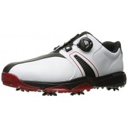 adidas Golf Men's 360 Traxion Boa WD Shoes, Ftwr White/Core Black/Scarlet, 12. 5 Wide US