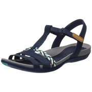 Clarks Women's Tealite Grace Blue Leather Fashion Sandals - 5 UK/India (38 EU)