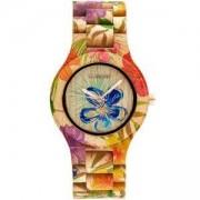 Дамски дървен часовник WeWood ANTEA FLOWER BEIGE, 70220-225