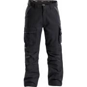 Dassy - Connor Werkbroek met kniestukken - Zwart/Grijs - Size: NL:46 BE:40