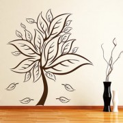 Decor Kafe In Bloom Tree Wall Sticker (18x20 Inch)