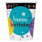 Unique Taza de fiesta de cumpleaños de 252 ml, 8 unidades