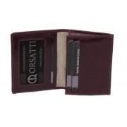 Skórzane etui na wizytówki Orsatti EW01D w kolorze bordowym