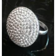 Stříbrný prsten round XL