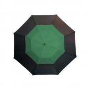 Umbrela golf 132 cm, sistem de ventilatie, negru si verde inchis, Everestus, UG11MN, fibra de sticla, nailon, saculet inclus