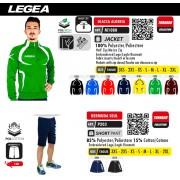 Tuta sportiva Legea Tornado - Giacca Algeria e bermuda Seul - Tuta calcio basket volley