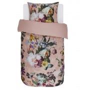 Essenza Bavlněné povlečení na postel, obrázkové povlečení, povlečení na jednolůžko, povlečení v květinách, růžové květy, Essenza, 140 x 220 cm - 140x220+60x70