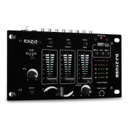 Ibiza DJ-21 3/2-Kanal Mischpult Mixer USB Talkover Party