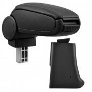 Středová loketní opěrka - vhodná pro: Golf 3, Volkswagen Vento - umělá kůže - Černá s černými švy