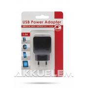 Hálózati USB töltő adapter 5V 1200mA 55045-1BK