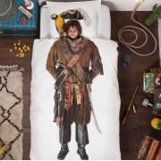 Snurk Piraten dekbedovertrek Snurk-1-persoons 140 x 220 cm incl. kussensloop 60 x 70 cm