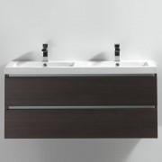 Thalassor Meuble salle de bain double vasque 120 cm CITY bois