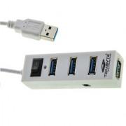 4 Port USB Hub with Switch