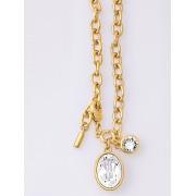 Uta Raasch Dames Armband met gefacetteerde kristallen van Swarovski Van Uta Raasch goudkleur