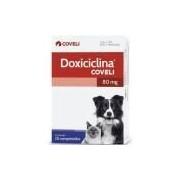 Antibiótico Oral Coveli Doxiciclina 80mg Cães e Gatos 20 Comprimidos