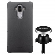 Huawei Mate 9 Case %26 Magnetic Car Holder Combo - Grey