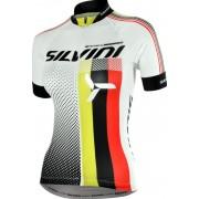 Női kerékpáros mez Silvini TEAM WD837 white