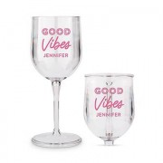 Confetti Portable Nesting Wine Glass - Good Vibes Printing