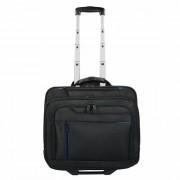 Dermata Valigetta Business 2 ruote 42 cm scomparto portatile nero