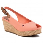 Еспадрили TOMMY HILFIGER - Iconic Elba Sling Back Wedge FW0FW04788 Island Coral SN7