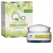 Crema antirid de zi q10+ceai verde si complex mineral energizant 50ml COSMETIC PLANT