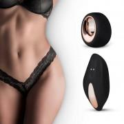Pantyrebel - akkus, rádiós vibrációs csipke tanga (fekete)