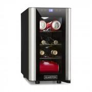Vinovista Picollo Frigorífico Para Bebidas 24l 8 Garrafas LED Porta de Vidro Aço Inoxidável