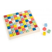 Small Foot Design 10842 Sudoku Educate Made of Wood with Colourful Dice, Trains The Numerical Understanding, in Wooden Frame for Big and Friends, Puzzle Game, Jigsaw, from 6 Years up