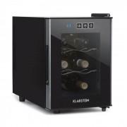 Ceres Garrafeira Refrigerada 16 Litros 4 Garrafas Ecrã Táctil 38 dB Porta de Vidro Preto