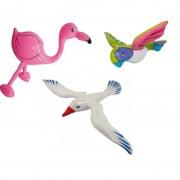 Geen Opblaasbare flamingo meeuw en papegaai