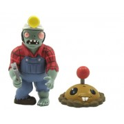 """Plants vs Zombies Digger Zombie 3"""" Action Figures with Potato Mine"""