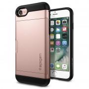 Capa Spigen Slim Armor Card Slider para iPhone 7 / iPhone 8 - Rosa Dourado