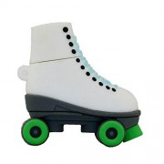 Civetman Dibujos animados de moda verde patines de hielo USB 2.0 unidad flash Memory Stick Pendrive U disco 4 GB