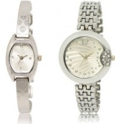 The Shopoholic Silver Combo Latest Collection Fancy And Attractive Silver Dial Analog Watch For Girls Girl'S Watch Stylish