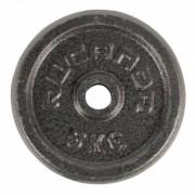Rucanor halterschijven 5 kg donkergrijs 2 stuks